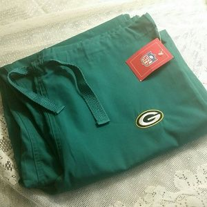 NWT NFL Green Bay Packers Unisex Scrub Bottoms
